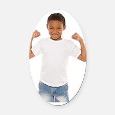 Happy boy Oval Car Magnet