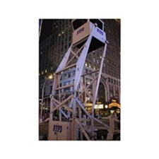 Police observation tower in New Y Rectangle Magnet