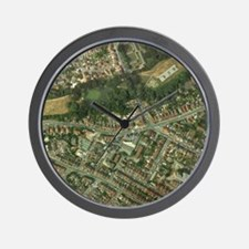 Suburban housing Wall Clock