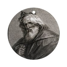 Plutus, Greek god of wealth Round Ornament