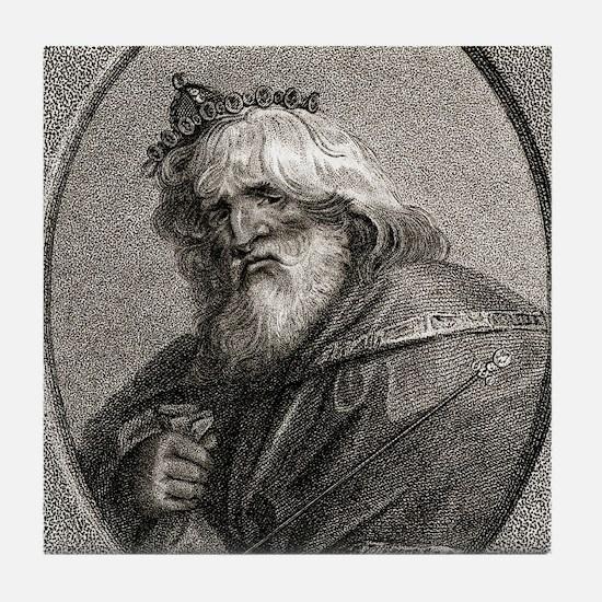 Plutus, Greek god of wealth Tile Coaster