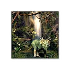 "Styracosaurus dinosaur, art Square Sticker 3"" x 3"""