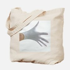 Gloved hand Tote Bag