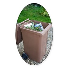 Plastic Bin for Domestic Green Wast Decal