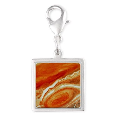 Great red spot on Jupiter Silver Square Charm