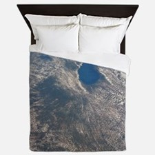 Great Lakes from space Queen Duvet