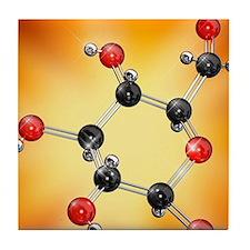 Glucose sugar molecule Tile Coaster