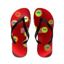 Plum pudding model of the atom, artwork Flip Flops