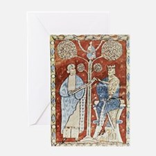 Pliny the Elder and the Emperor Titu Greeting Card