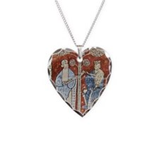 Pliny the Elder and the Emper Necklace Heart Charm