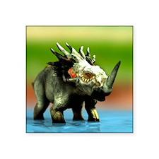 "Styracosaurus dinosaur Square Sticker 3"" x 3"""