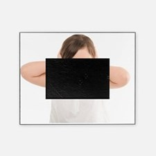 Girl covering her ears Picture Frame