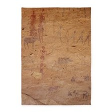 Pictograph of walking figures 5'x7'Area Rug