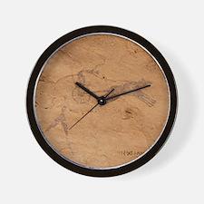 Pictograph of Horsedrawn Chariot, Libya Wall Clock