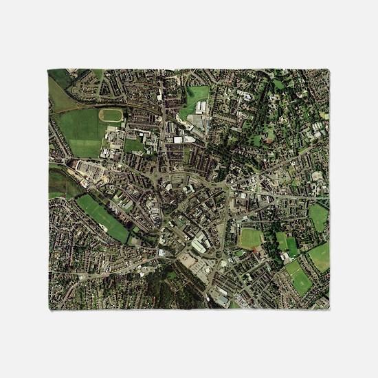 Stoke-on-Trent, UK, aerial image Throw Blanket