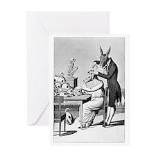 Phrenology, satirical artwork Greeting Card