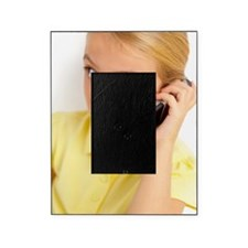 Girl using mobile phone Picture Frame