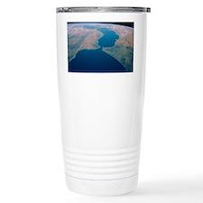 Strait of Gibraltar from Space  Travel Mug