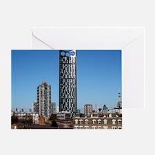 Strata skyscraper Greeting Card