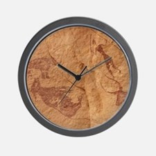 Pictograph detail of a Lion attack, Lib Wall Clock
