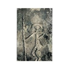 Stone Age rock carving Rectangle Magnet