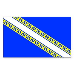 Champagne Rectangle Decal