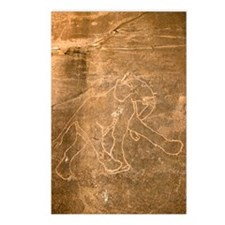 Petroglyph of Running Ele Postcards (Package of 8)
