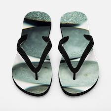 Stacked pebbles Flip Flops
