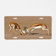 Springboks fighting Aluminum License Plate