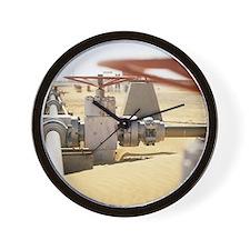 Gas well valve Wall Clock