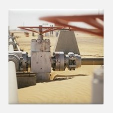 Gas well valve Tile Coaster