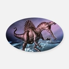 Spinosaurus dinosaur Oval Car Magnet
