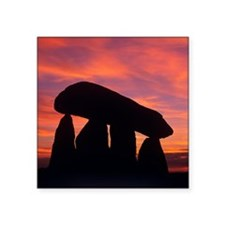 "Standing stones Square Sticker 3"" x 3"""