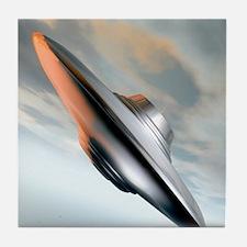 Flying saucer, artwork Tile Coaster
