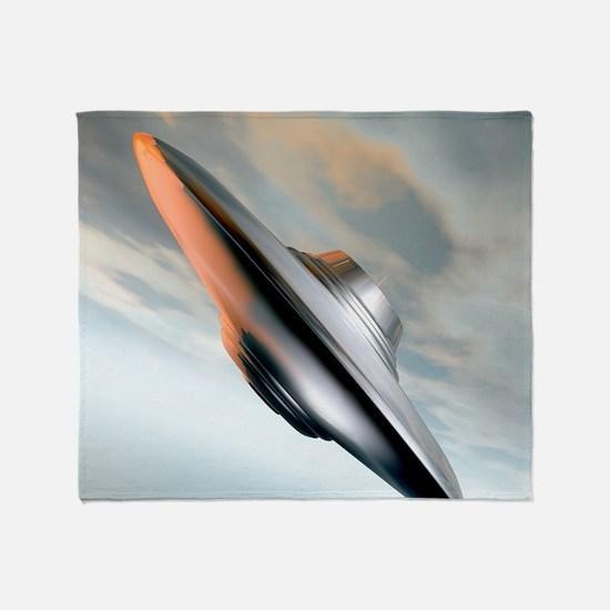 Flying saucer, artwork Throw Blanket