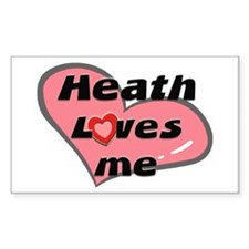 heath loves me Rectangle Decal