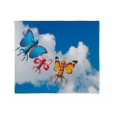 Flying microbots, artwork Throw Blanket