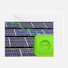Solar power, conceptual image Greeting Card