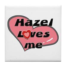 hazel loves me  Tile Coaster
