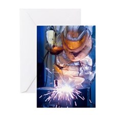 Oxy-acetylene cutting Greeting Card