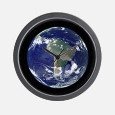 South America, satellite image Wall Clock