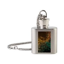 Fibre optics Flask Necklace