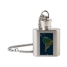 South America Flask Necklace