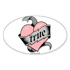 True Love Heart Oval Decal