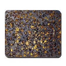Pallasite meteorite Mousepad