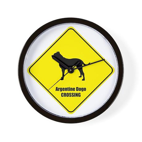 Dogo Crossing Wall Clock