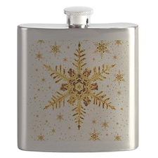 Snowflakes Flask