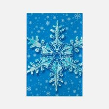 Snowflakes Rectangle Magnet
