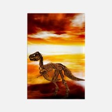 Extinction of the dinosaurs, artw Rectangle Magnet