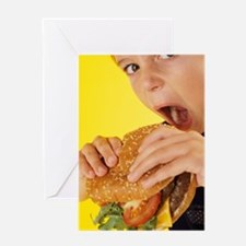 Fast food Greeting Card
